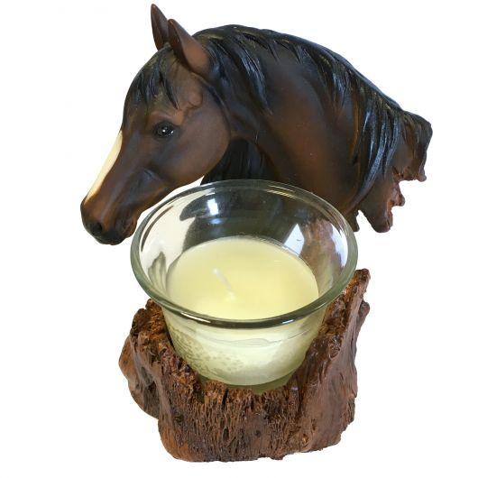 Bougeoir statue tête de cheval