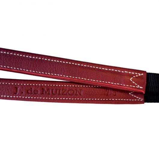 Étrivières monobrin nylon cuir de veau boucle ardillon De Muizon