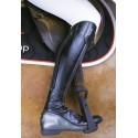 Bottes équitation cuir noir bronze Femme Foxy Freejump