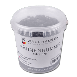 Élastiques à natter extra largte silicone 150 g Waldhausen
