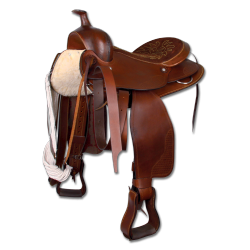 Selle western cuir lisse grand cheval Waldhausen