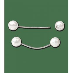 Duo de perles à natter crinière x 12 Waldhausen