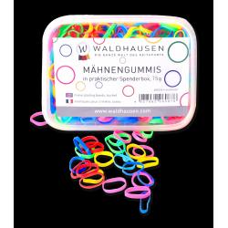 Élastiques à natter crinière larges multicolores 50 g Waldhausen