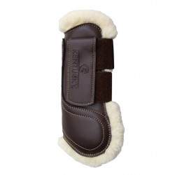 Protège-tendons simili-cuir mouton synthétique velcro Kentucky