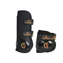 Set protège-tendons velcro et protège-boulets Moonboots Kentucky