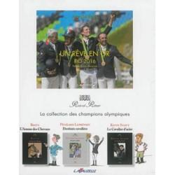 Coffret 4 volumes:Un rêve en or-Rio 2016, Pénélope Leprévost, Kevin Staut, Bosty -  Collection Rois et rênes Editions Lavauzelle