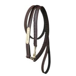 Longe de présentation simili-cuir et chaîne 2,70 m Kentucky