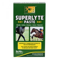 Électrolytes rapides seringue 70 g x 3 Superlyte Paste TRM
