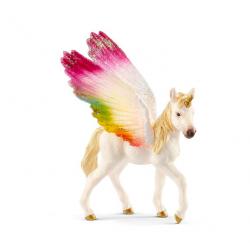 Figurine poulain Licorne ailée Arc-en-ciel