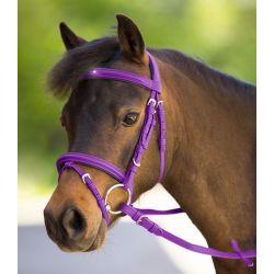 Bridon synthétique muserolle combinée poney Unicorn 2 Waldhausen