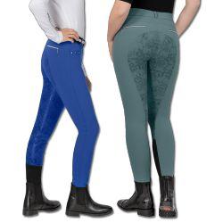 Pantalon équitation microfibre avec fond Femme Vienna ELT