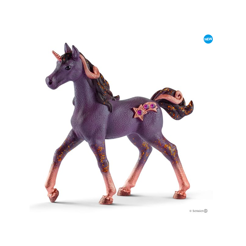 Figurine Poulain Licorne d'Étoile filante