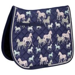 Tapis de selle matelassé motif chevaux Covalliero