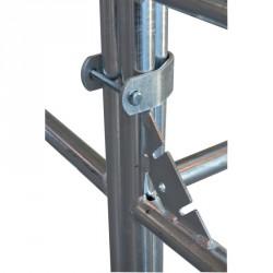 Fixation pour assemblage de panels 3 tubes La Gée