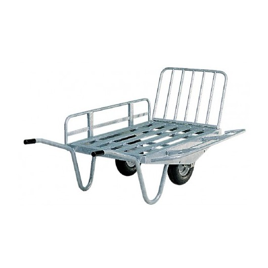 brouette fourrag re deux roues avec c t s rabattables la g e. Black Bedroom Furniture Sets. Home Design Ideas