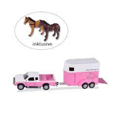 Jouet pick up et van avec 2 figurines chevaux Waldhausen