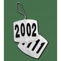 Support porte numéro rectangle 4 chiffres