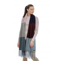 Écharpe oversize colorée