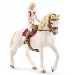 Figurine Cavlière Sofia et son cheval Blossom