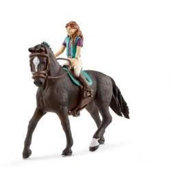 Figurine Cavalière Lisa et son cheval Storm horse club SCHLEICH