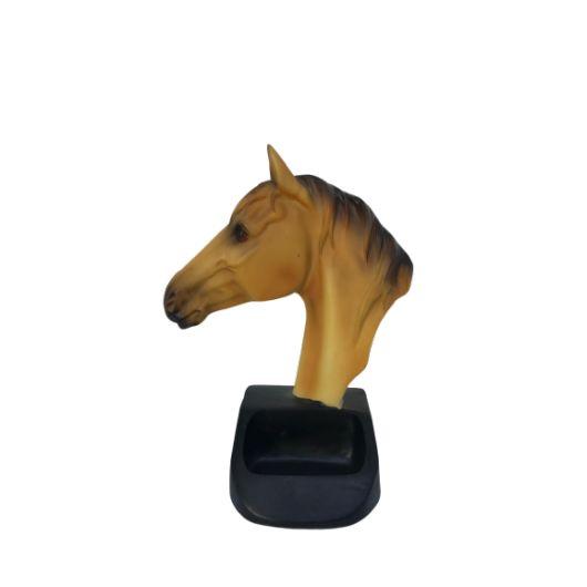Statue cheval avec encoche de rangement