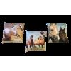 Coussin motif chevaux