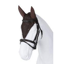 Bonnet cheval anti-mouche cheval long oreilles élastiques - Torpol - Equestra