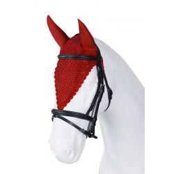 Bonnet anti-mouche cheval long - tricoté main - Torpol - Equestra