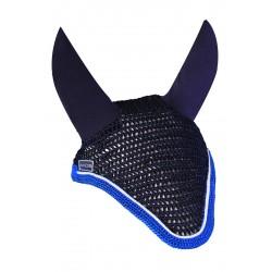 Bonnet anti-mouche cheval Diamant Rider Marine/bleu elec - Harcour - Equestra