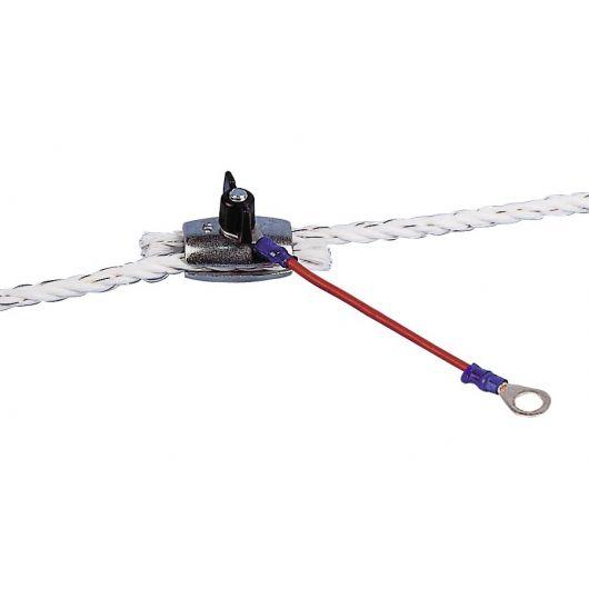 75 x diamant noir vis anneau isolateurs clôture électrique post wire rope escrime