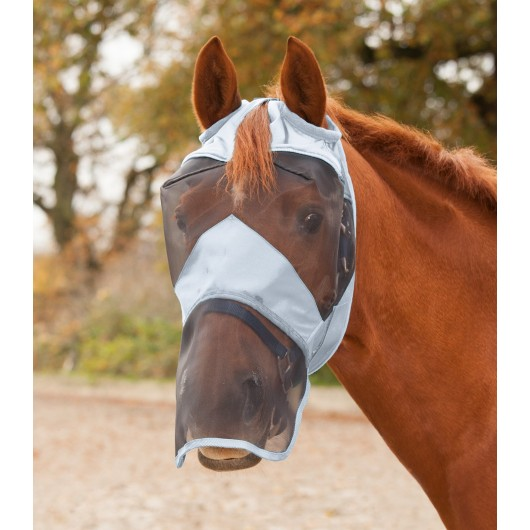 Masque anti-mouches anti-UV intégral sans oreilles Premium - Waldhausen