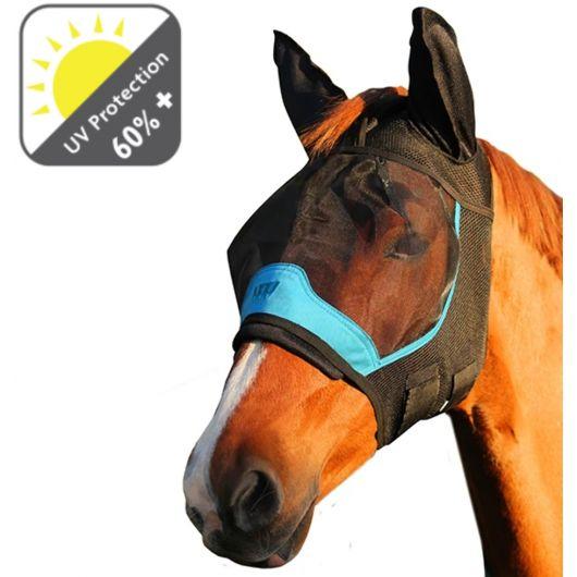 Masque anti-mouche anti-uv cheval avec oreilles - Woof Wear