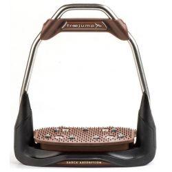 Etriers Air's Oeil droit plancher plat Chocolat - Freejump