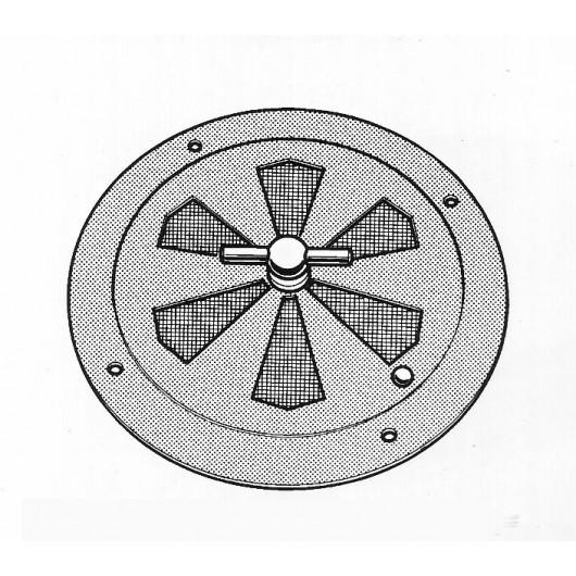 Grille ronde inox réglable diamètre 150 mm