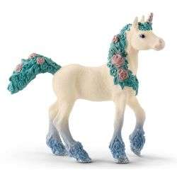 Figurine poulain licorne aux fleurs - Schleich