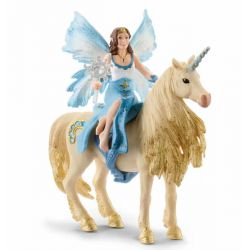 Figurine Eleya sur licorne dorée - Schleich