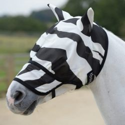 Masque anti-mouche et anti-uv cheval Buzz Off Zebra intégral - Bucas