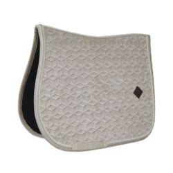 Tapis de selle cheval en velours Velvet Basic - Kentucky
