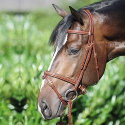 Bridon cuir cheval Lorenz muserolle combinée - Kavalkade