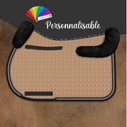 Tapis de selle cheval avec amortisseur en mouton intégré personnalisable - Mattes