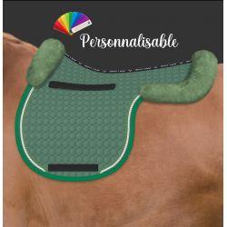Tapis en forme de selle cheval avec amortisseur en mouton personnalisable - Mattes