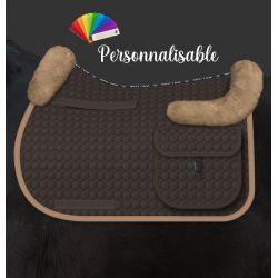 Tapis de randonnée cheval avec amortisseur en mouton intégré personnalisable - Mattes