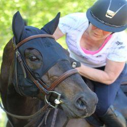 Masque cheval relaxant avec oreilles - Technologie Titane Liquide - Fenwick