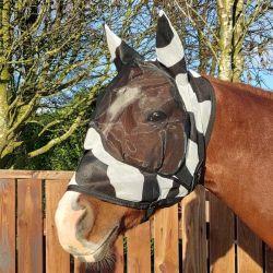 Masque anti-mouche cheval anti-uv avec oreilles Deluxe Zebra - Bucas