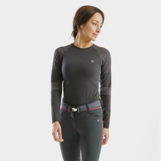 Tee-shirt manches longues Femme Optimax correction posturale - Horse Pilot