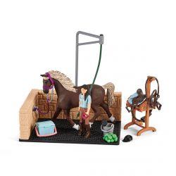 Box de chevaux avec lavage Emily et Luna Horse Club - Schleich