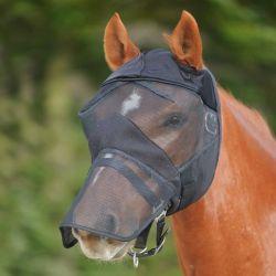 Masque anti-mouche anti-UV intégral cheval sans oreilles cheval Premium - Waldhausen
