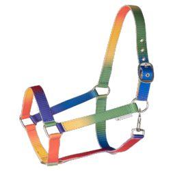 Licol cheval nylon Arc-en-ciel - Waldhausen