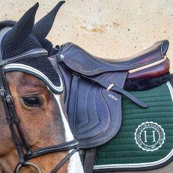 Pack tapis de selle cheval Indiana et bonnet anti-mouche West - Harcour