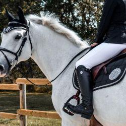 Pack tapis de selle cheval Nikita et bonnet anti-mouches Lucy - Harcour